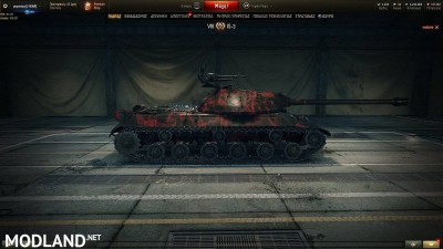 BLACK WITH RED PATTERN SKIN for IS-3 1.4 [1.4.0.1], 5 photo